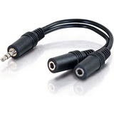 Comprehensive Stereo 3.5mm plug to Two Stereo Mini Jacks Audio Adapter Cable 6 inches