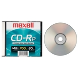 Maxell CDR 700MB 80MIN 48X SLVR-PRINTABLE W/ SLIM JC ( 648711 ) (Discontinued by Manufacturer)