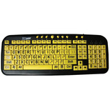 DataCal Ezsee Low Vision Keyboard Large Print Yellow Keys