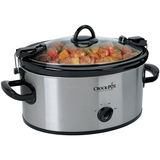 6 QT Oval Portable Slow Cooker