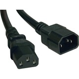 Tripp Lite 4ft Computer Power Cord Extension Cable C14 to C13 10A 18AWG 4'