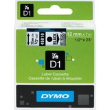 "Dymo D1 Electronic Tape Cartridge - 1/2"" Width x 23 ft Length - Rectangle - Thermal Transfer - Clear - Polyester - 1 Each"