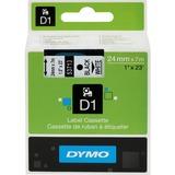 "Dymo D1 Electronic Tape Cartridge - 1"" Width x 23 ft Length - White - 1 Each"