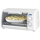 BD 4 Slice Toaster Oven Wht