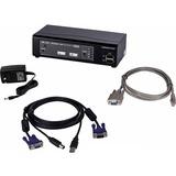 Connectpro UR-12-PLUS-KIT 2 port VGA KVM with Cables