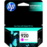 HP 920 | Ink Cartridge | Magenta | Works with HP OfficeJet 6000, 6500, 7000, 7500 | CH635AN