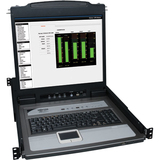 """Tripp Lite 8-Port Rack Console KVM Switch w/19"""" LCD PS2/USB Cables 1U TAA GSA"""