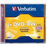 Verbatim DVD+RW 4.7GB 4X with Branded Surface - 1pk Jewel Case - TAA Compliant