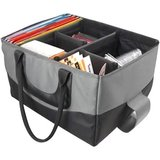 AutoExec Carrying Case (Tote) for File Folder, Document - Gray