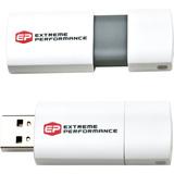 EP Memory 8GB USB 2.0 White Capless Wave Flash Drive