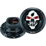 "Boss Audio SK653 Phantom Skull 6.5"" 3-way 350-watt Full Range Speakers"