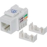 Intellinet Network Solutions Cat5e Keystone Jack, UTP, Punch-Down, White