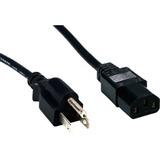 Comprehensive Standard PC Power Cord, NEMA 5-15P to IEC 60320-C13, 18/3 SVT, Black 1ft.