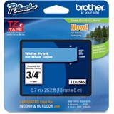 "Brother P-Touch TZe Flat Surface Laminated Tape - 45/64"" Width x 26 1/5 ft Length - Direct Thermal, Thermal Transfer - Blue - 1 Each"