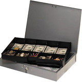 Steelmaster Cash Box with 10-Compartment Tray