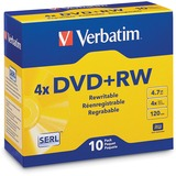 Verbatim DVD+RW 4.7GB 4X with Branded Surface - 10pk Jewel Case - TAA Compliant
