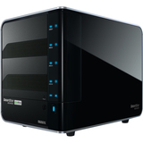 Promise 4-Drive NAS with 10/100/1000 Ethernet connectivity RAID 0, 1, 5, 10, 5 hot-spare and 3G HDD support