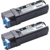 Dell Black 6000 Page Yield Toner Cartridge for 2150CN/CDN 2155CN/CDN Printers (2-Pack)
