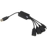 Inland Wired 4 Port USB 2.0 HUB