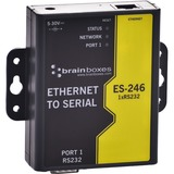 Brainboxes 1 Port RS232 Ethernet to Serial Adapter