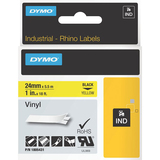 Dymo Black on Yellow Color Coded Label