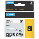 Dymo Black on White Color Coded Label