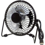 Premiertek Metal Desktop Fan USB Powered W/Switch Black
