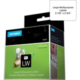 """Dymo LabelWriter Large Multipurpose Labels - 2 1/8"""" Width x 2 3/4"""" Length - Rectangle - Direct Thermal - White - 320 / Roll - 320 / Roll"""
