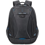 "Solo Tech Carrying Case (Backpack) for 17.3"" Notebook, iPad, Digital Text Reader, Tablet PC - Black, Blue"