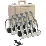 Califone Classroom Twelve-Pack Multimedia Stereo Headphones