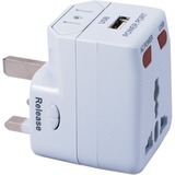 QVS World Power Travel Adapter Kit with Surge Protection & USB Charger