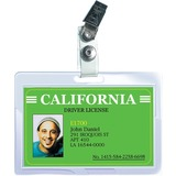 "Royal Sovereign ID Badge Size (3"" x 3.75"") w/ Badge Clip 5 Mil Thermal Laminating Pouches - 25 pk"
