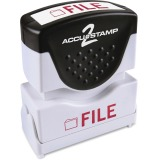 Consolidated Stamp Cosco Pre-inked 2-color FILE Message Stamp