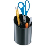 OIC Recycled Big Pencil Cup, 3 Compartments, Black