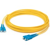AddOn 3m SC (Male) to SC (Male) Yellow OS2 Duplex Fiber OFNR (Riser-Rated) Patch Cable