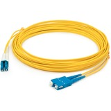 AddOn 1m LC (Male) to SC (Male) Yellow OS2 Duplex Fiber OFNR (Riser-Rated) Patch Cable