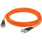 AddOn 3m ST (Male) to ST (Male) Orange OM1 Duplex Fiber OFNR (Riser-Rated) Patch Cable