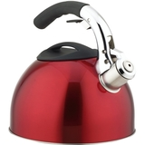 Primula 3 Qt Soft Grip Whistling Tea Kettle Red
