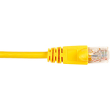 Black Box CAT6 Value Line Patch Cable, Stranded, Yellow, 3-ft. (0.9-m)