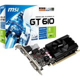 MSI N610GT-MD2GD3/LP GeForce GT 610 Graphic Card - 810 MHz Core - 2 GB DDR3 SDRAM - PCI Express 2.0 x16 - Low-profile - Single Slot Space Required