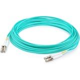 AddOn 15m LC (Male) to LC (Male) Aqua OM3 Duplex Fiber OFNR (Riser-Rated) Patch Cable
