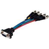 Comprehensive Pro AV/IT Series low-profile VGA HD 15 jack to 5 BNC jacks cable 6 inches