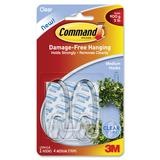 CMD 2 MEDIUM HOOKS W 4 STRIPS