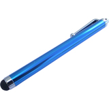 SnowFire Ocean Blue Stylus Pen with Rubber Soft Tip - Silver Pocket Clip