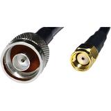 Premiertek Low Loss N Male to RP-SMA Male RG58/U Coaxial Cable 5 Meters