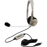 Califone 3064AV-USB Lightweight Multimedia Headset Via Ergoguys