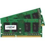 Crucial 16GB Kit (8GBx2), 204-Pin SODIMM, DDR3 PC3-12800 Memory Module