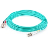 AddOn 3m LC (Male) to SC (Male) Aqua OM4 Duplex Fiber OFNR (Riser-Rated) Patch Cable
