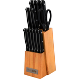 Ragalta 15pc Knife Block Set with Double Serrated Blades