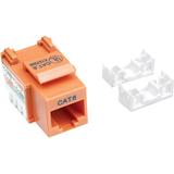 Intellinet Network Solutions Cat6 Keystone Jack, UTP, Punch-Down, Orange